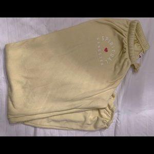 Light yellow sweatpants